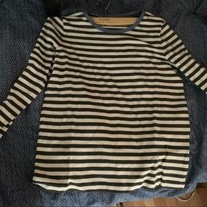 NWOT MADEWELL STRIPED LONG SLEEVE SHIRT